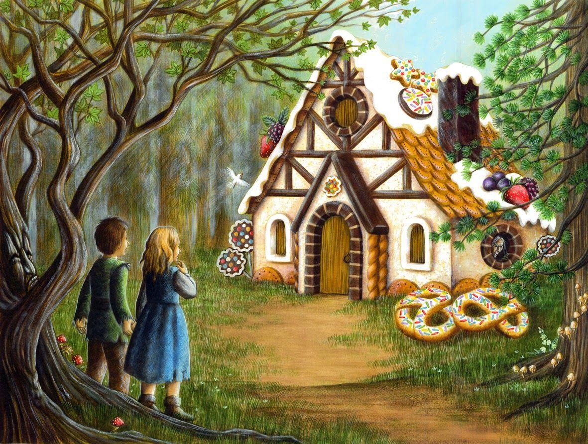 Contos De Grimm Joao E Maria Illustration Candy House Picture Illustration