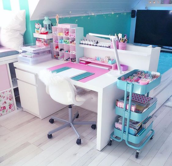 Little Girl Study Table Home Homedecor Studytable Teensroom Girlsroom Homedecorideas Interiordesignideas Gorge Study Room Decor Room Decor Room Design
