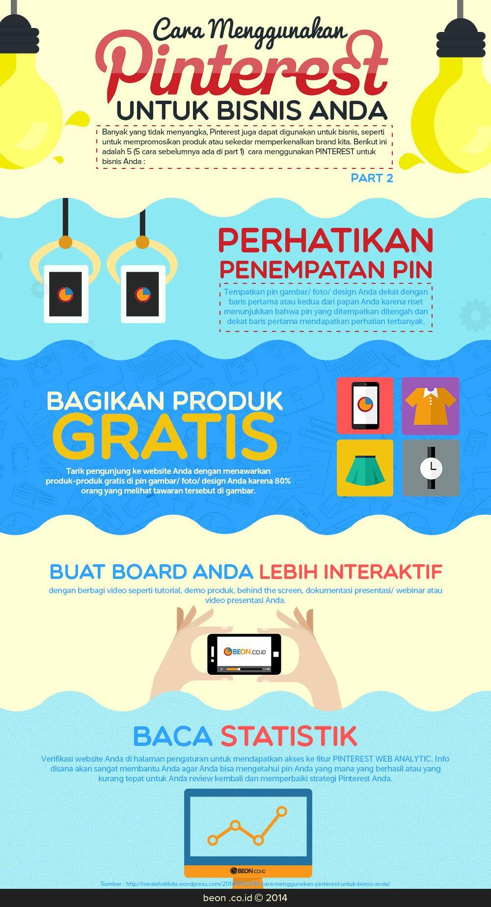 Infografis Cara Ajaib Manfaatkan Pinterest Untuk Bisnis Part 2 Infografis Desain Logo Bisnis Pemasaran Digital