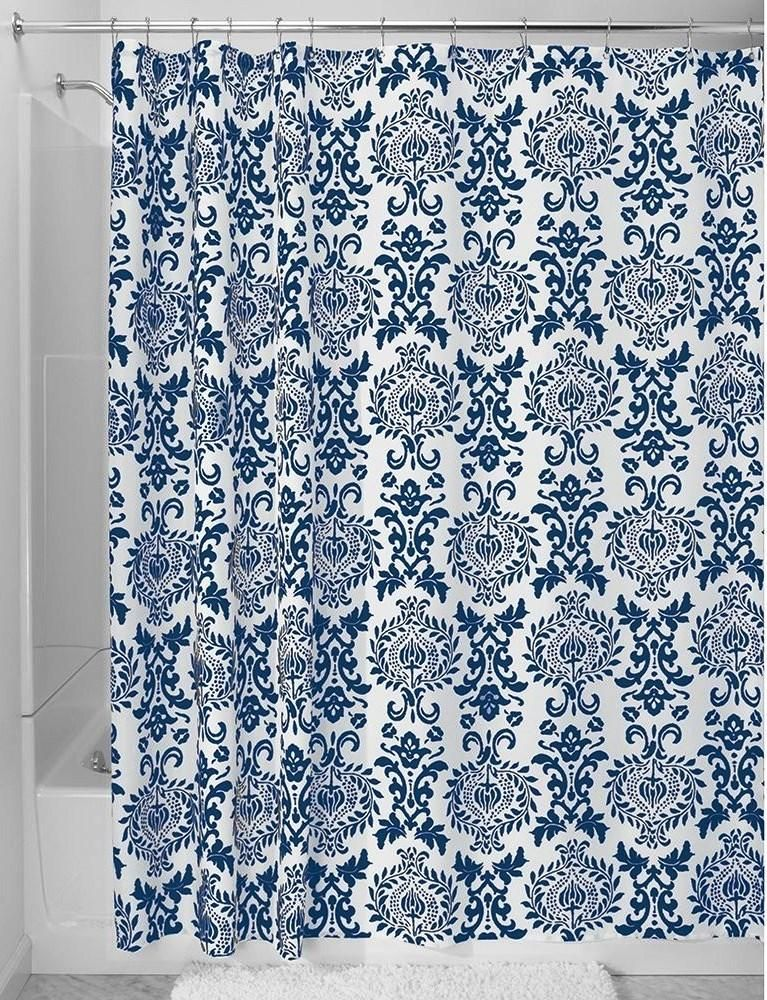 Navy Blue Shower Curtains In 10 Awesome Patterned Designs .