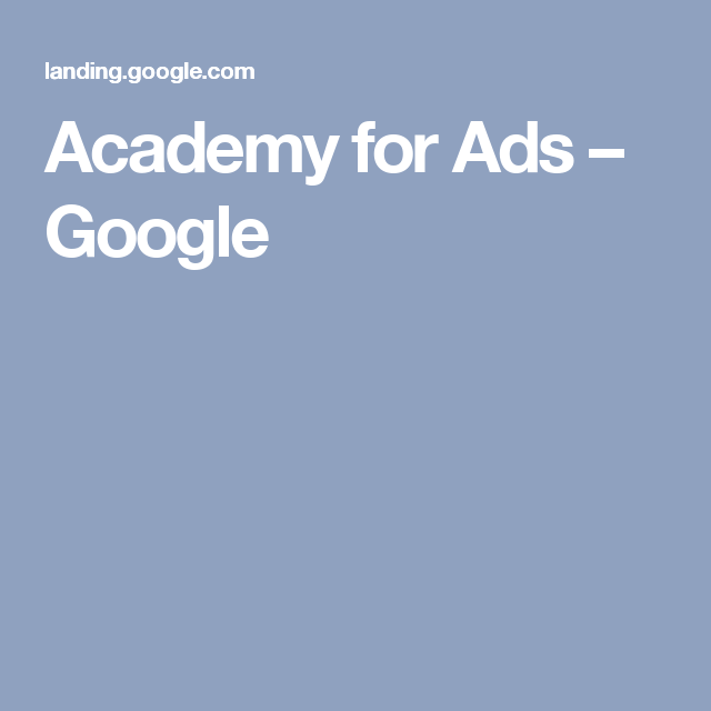 Academy For Ads – Google