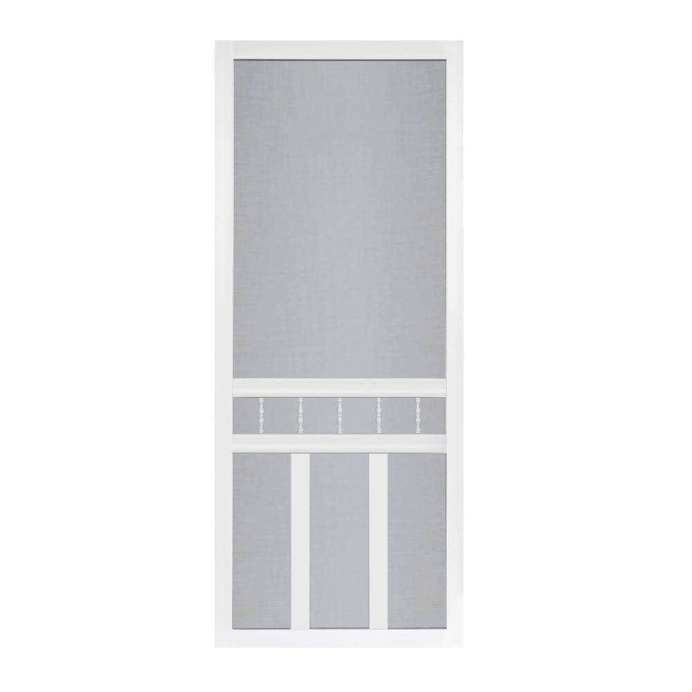 Screen Tight 36 In X 80 In Waccamaw Solid Vinyl White Screen Door With Hardware Wac36hd The Home Depot In 2020 Screen Tight Screen Door Vinyl Screen Doors