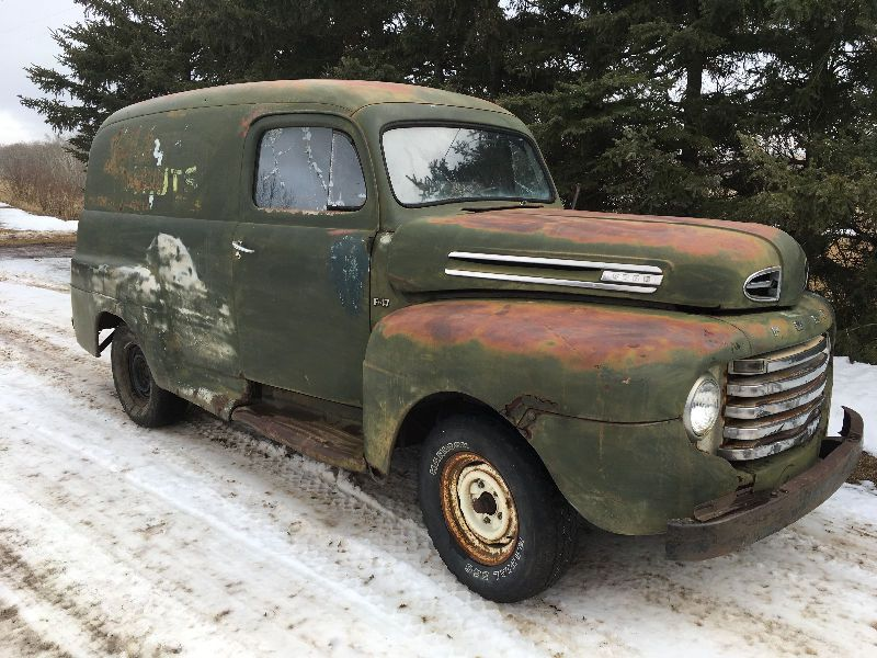 1949 ford f47 panel truck for sale owned for near 30 years excellent floor through out comes. Black Bedroom Furniture Sets. Home Design Ideas