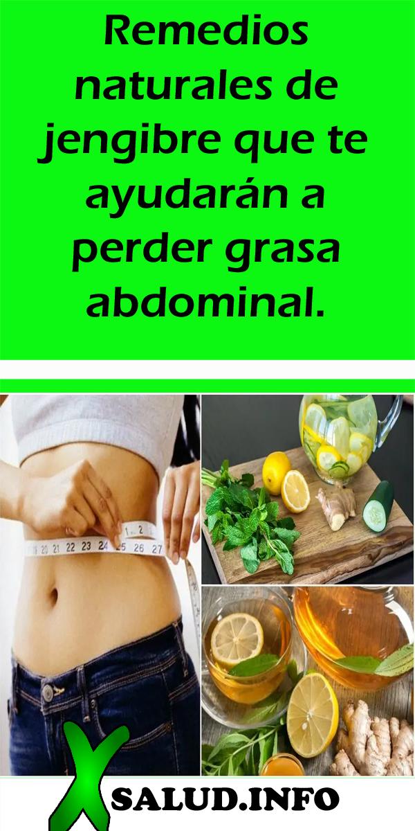 Adelgazar abdomen con remedios caseros