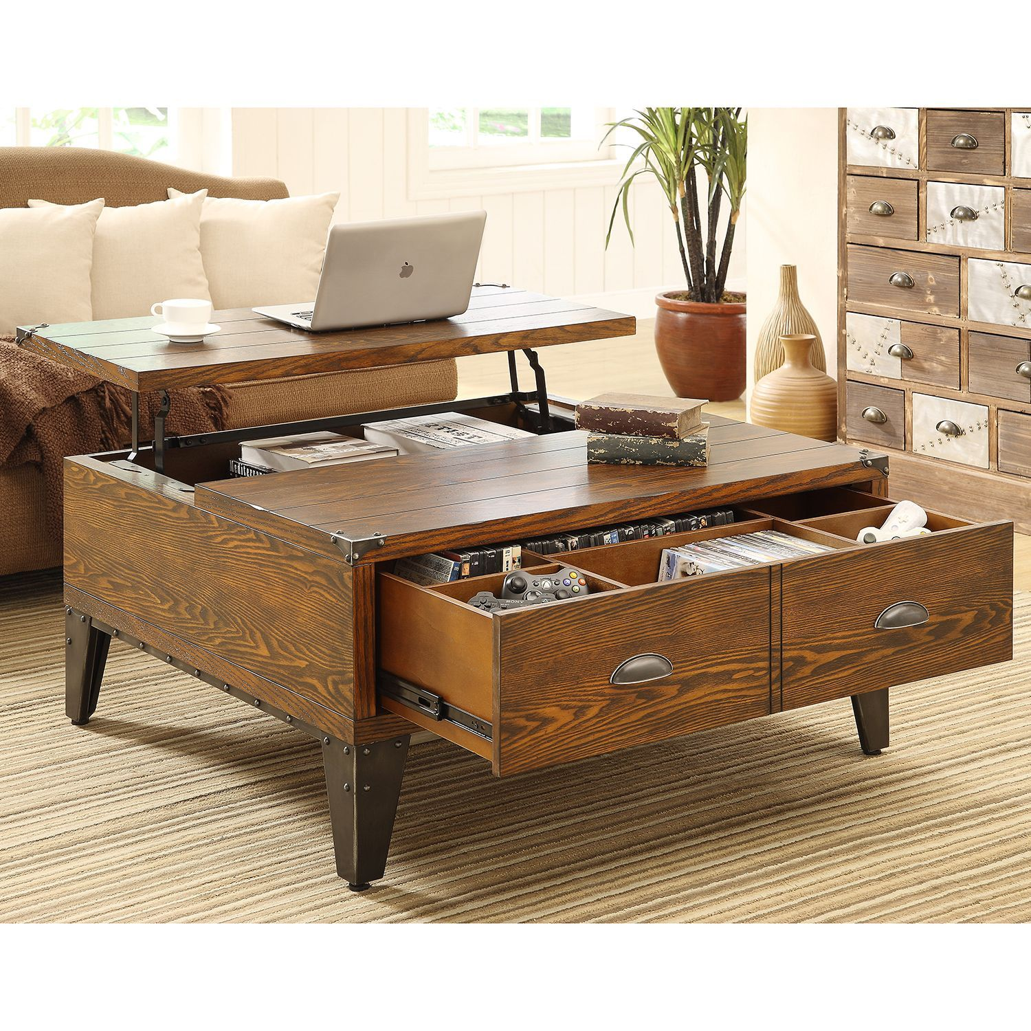 Wellington Lift-Top Coffee Table | Lift top coffee table, Coffee ...