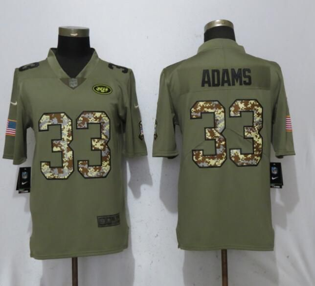 e3ff8a772 Men New York Jets 33 Adams Olive Camo Carson Salute to Service Limited Nike  NFL Jerseys