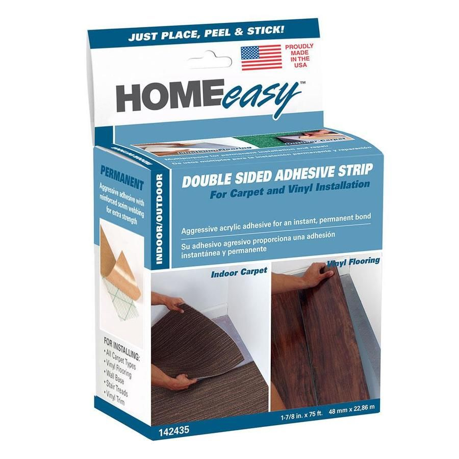 Homeeasy 1 875 In X 75 Ft Clear Double Sided Seam Tape At Lowes