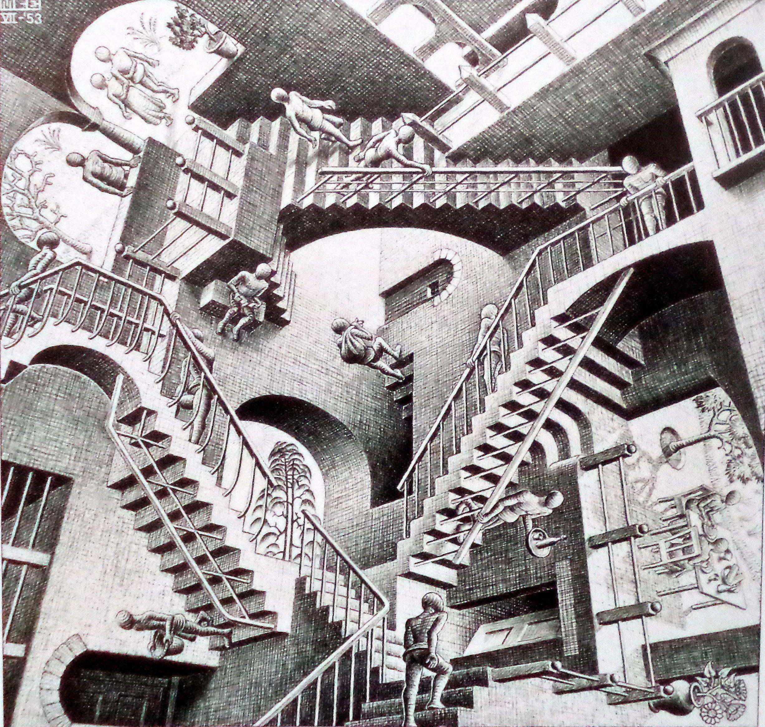MC Escher /'Print Gallery/' FINE ART PRINT Escher Art Surreal High Quality