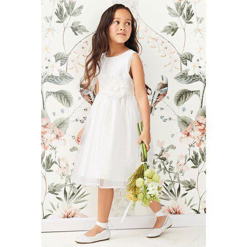 537a24aef6522 Robe de demoiselle d honneur avec corsage (3 mois à 16 ans) fille Next -  Blanc- Vue 1