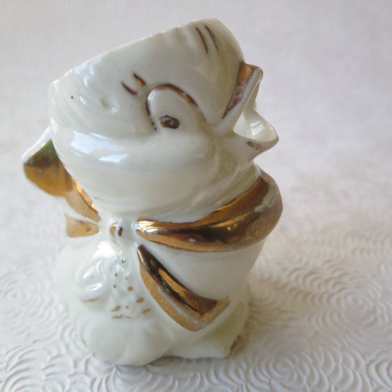 Baby Chick Pitcher Creamer Easter Bisque by stonebridgeworks