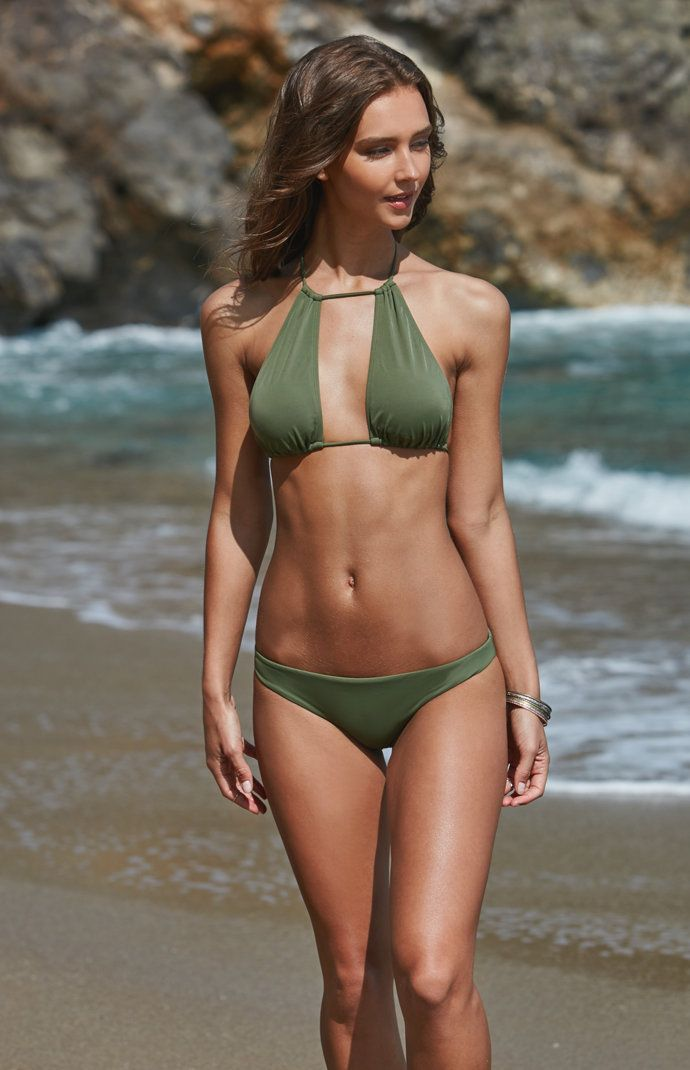 LA Hearts Cutout Halter Bikini Top at PacSun.com   Bikinis, Bikini tops, Halter bikini top
