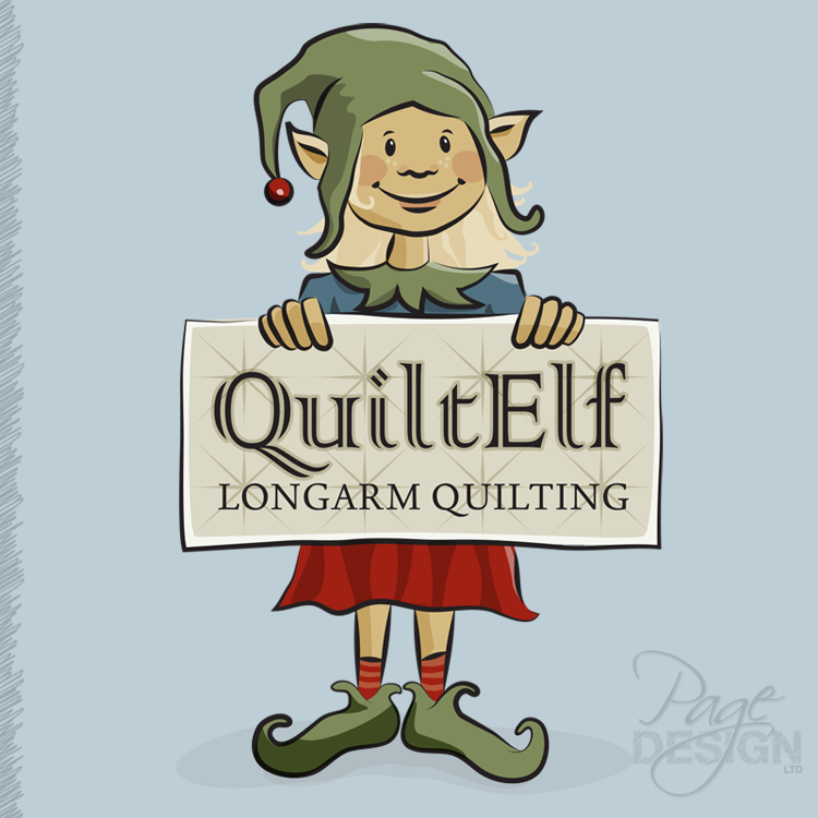 Logo design for QuiltElf, Rotorua, New Zealand