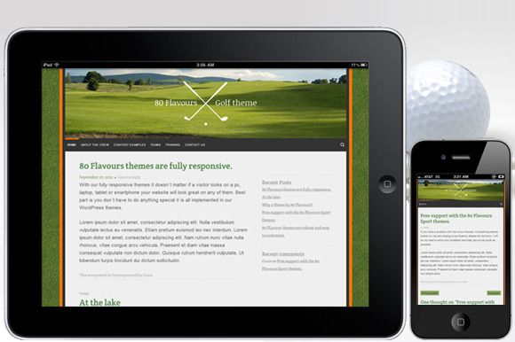 Check out GOLF COURSE theme by 80flavours on Creative Market ...