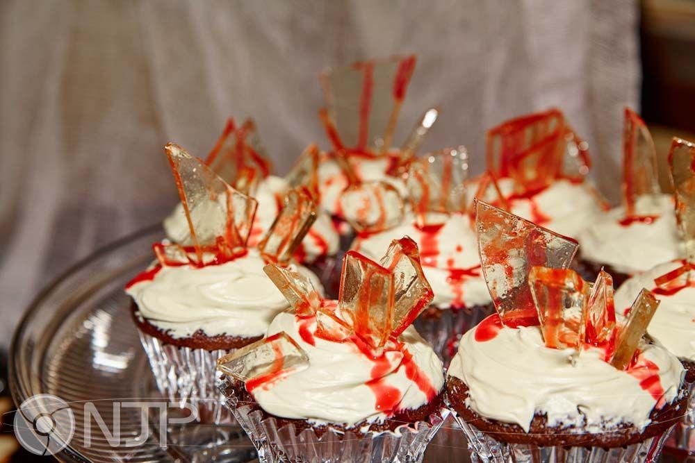 Halloween Broken Glass with Blood Cupcakes Food, Food
