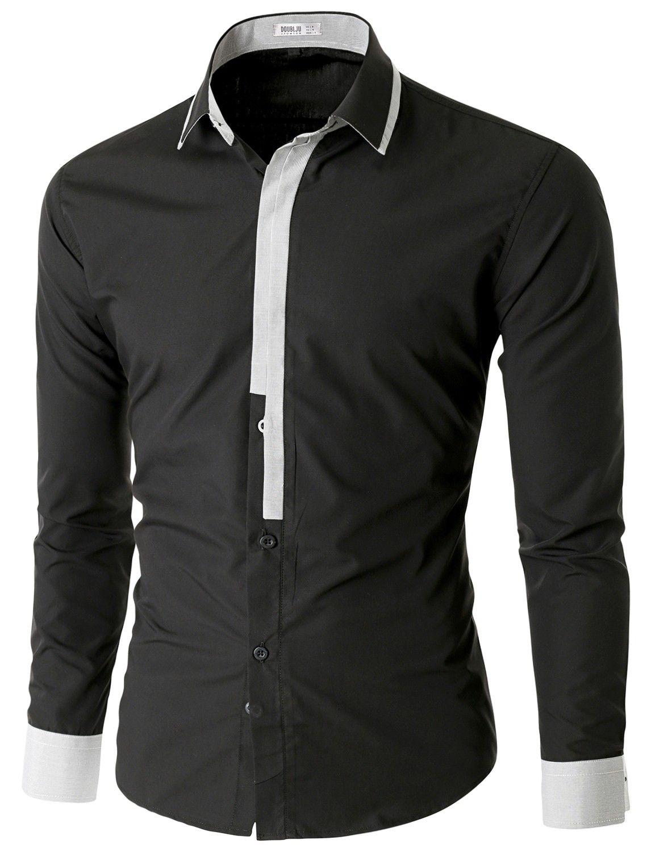 Doublju Men S Long Sleeve Button Down Dress Shirt Cmtstl02 Men Shirt Style Mens Shirts Mens Outfits [ 1500 x 1153 Pixel ]