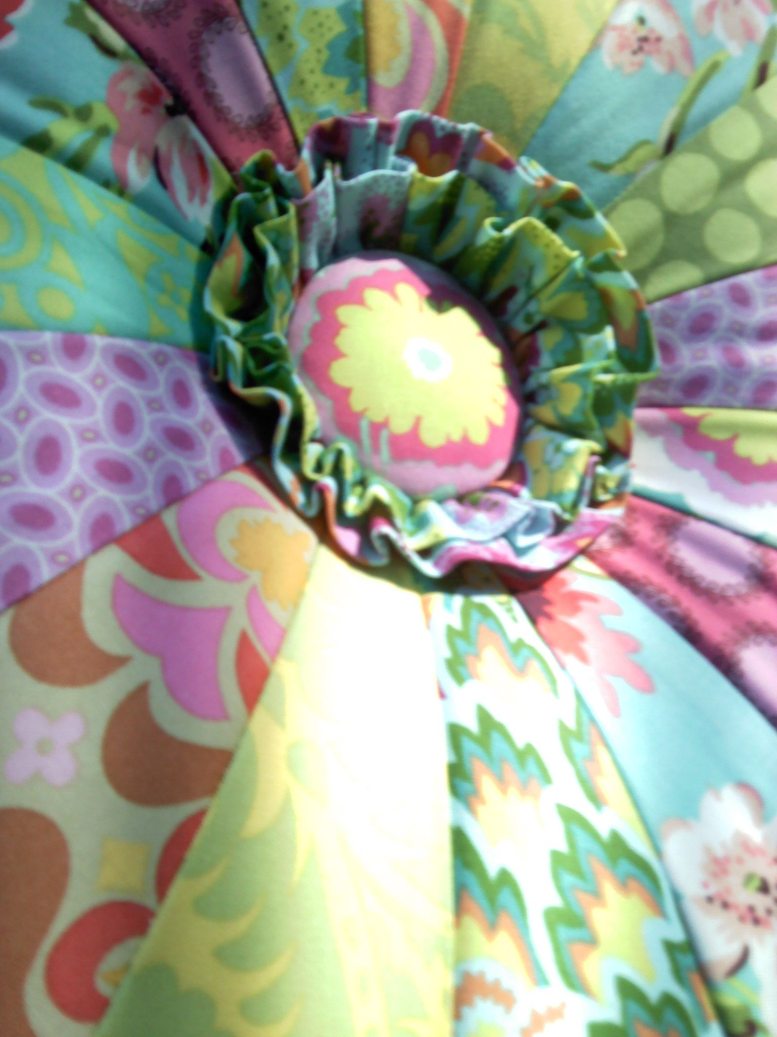 Amy Butler Tuffet! Add a ruffle for flair! | Tuffet | Pinterest ...