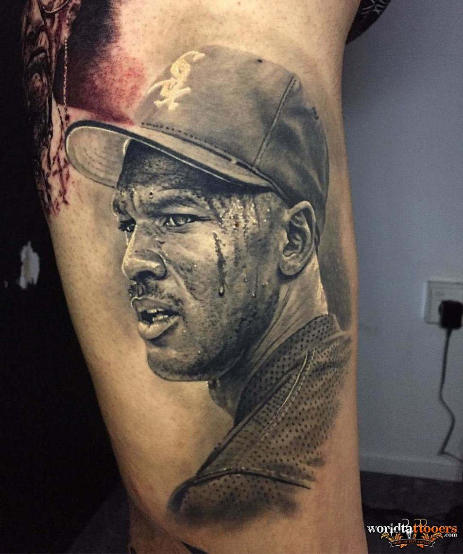 Awesome tattoo by the brilliant artist Steve Butcher #realism #Jordan