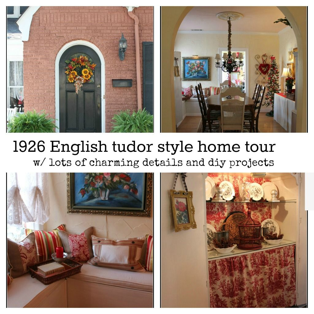English tudor cottage style home tour. Lots of diy, and charming ...