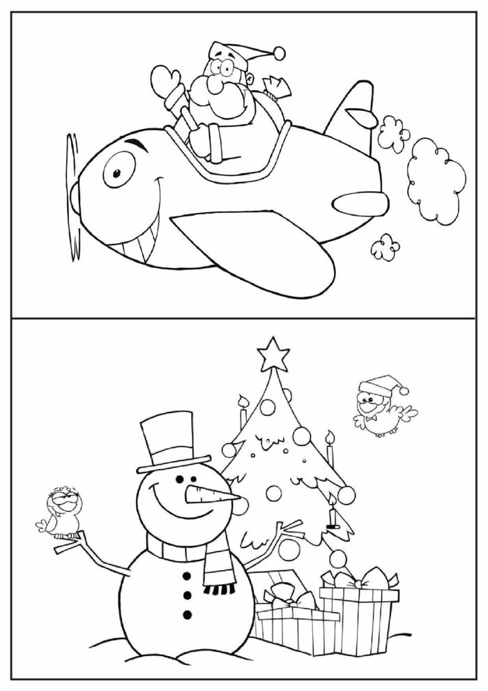 ▷ 1001 + ideas de dibujos navideños para colorear | Interiores ...