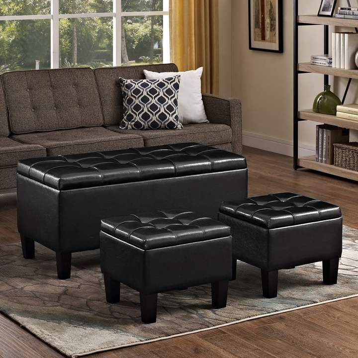 Sensational Simpli Home Simply Home Dover Faux Leather Storage Ottoman Squirreltailoven Fun Painted Chair Ideas Images Squirreltailovenorg