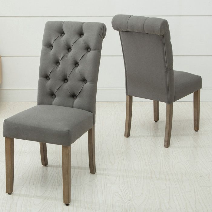 AC Pacific Christies Roll Top Tufted Modern Side Chair U0026 Reviews | Wayfair
