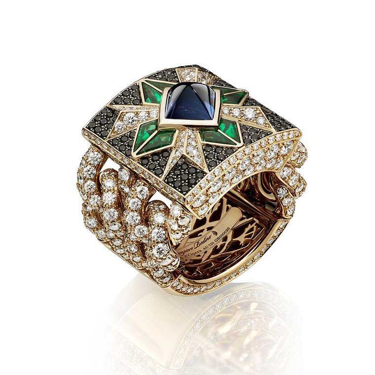Giampiero Bodino Rosa Dei Venti Ring Set With A Central
