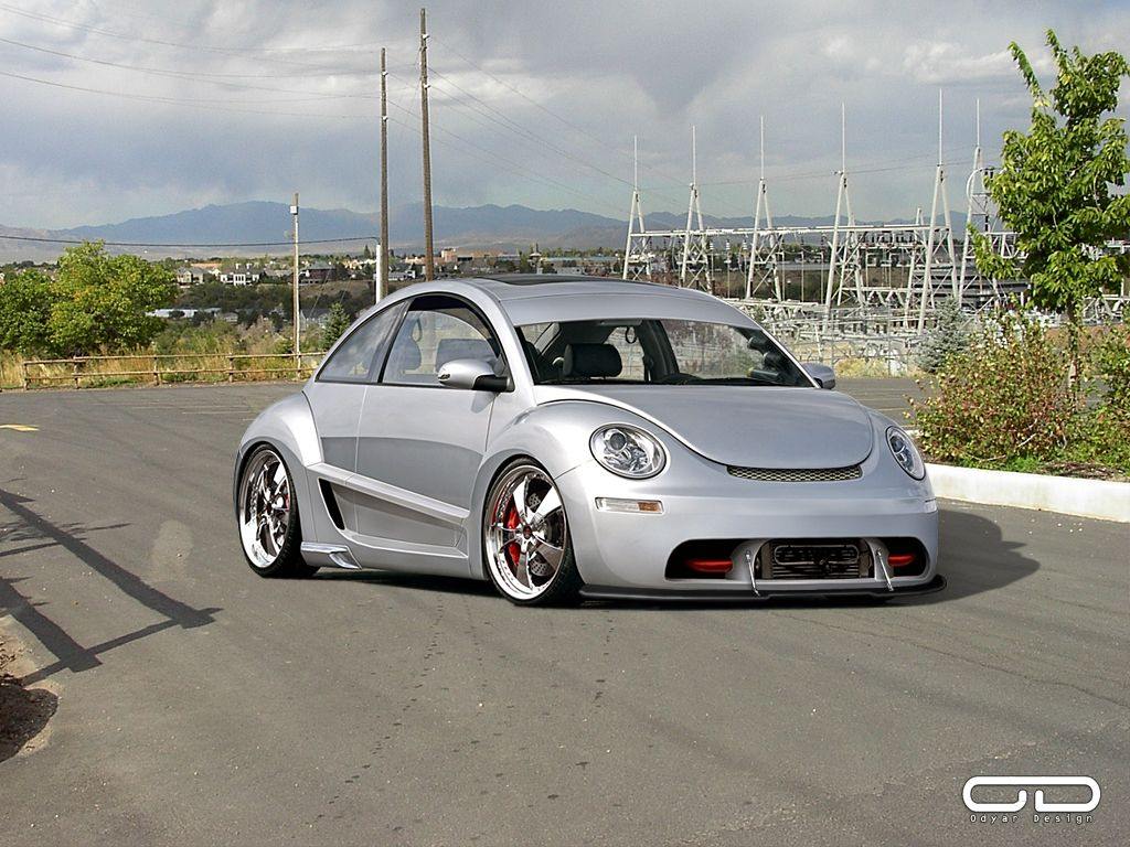 Vw new beetle tuning pictures and photos - New Beetle Tuning Stanced Car Volkswagen