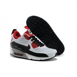 best sneakers 3071e ef2e6 Air Max 90 Blanc Noir Rouge Femme