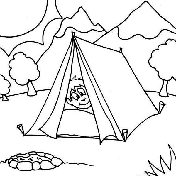 Boy Sleeping At Camping Tent Coloring Page Coloring Sun Camping Coloring Pages Halloween Coloring Pages Printable Super Coloring Pages