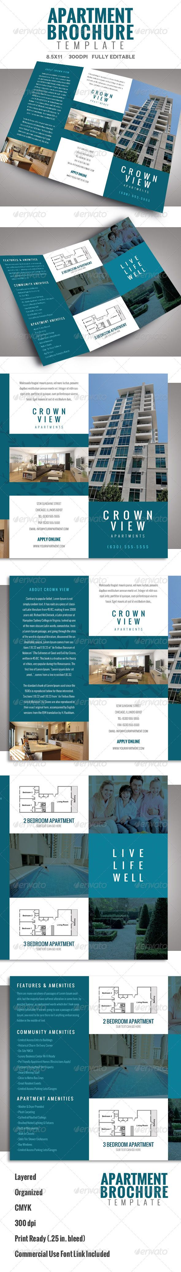 Apartment Brochure Template  Brochure Template Brochures And