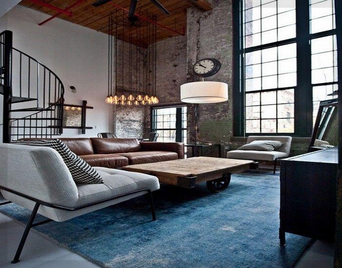Industriellen Stil Wohnzimmer Ideen #wohnzimmer #solebeich #solebich  #einrichtungsberatung #einrichtungsstil #wohnen