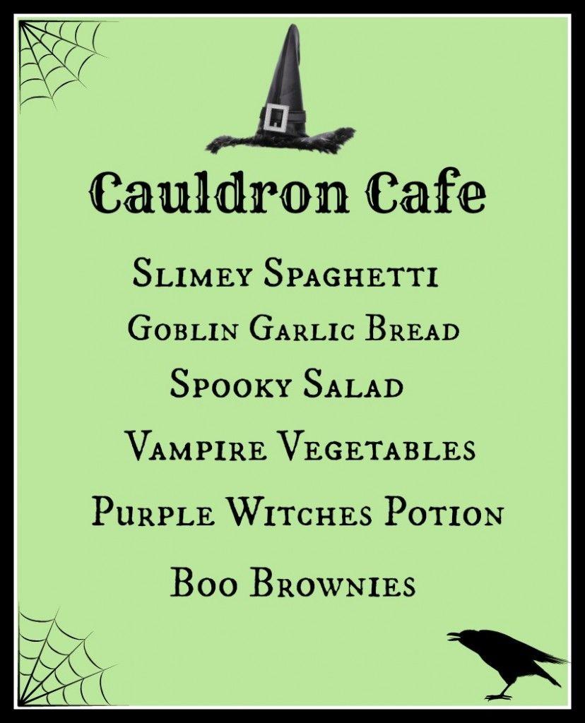 Fun Family Halloween Themed Dinner: The Cauldron Cafe   halloween ...