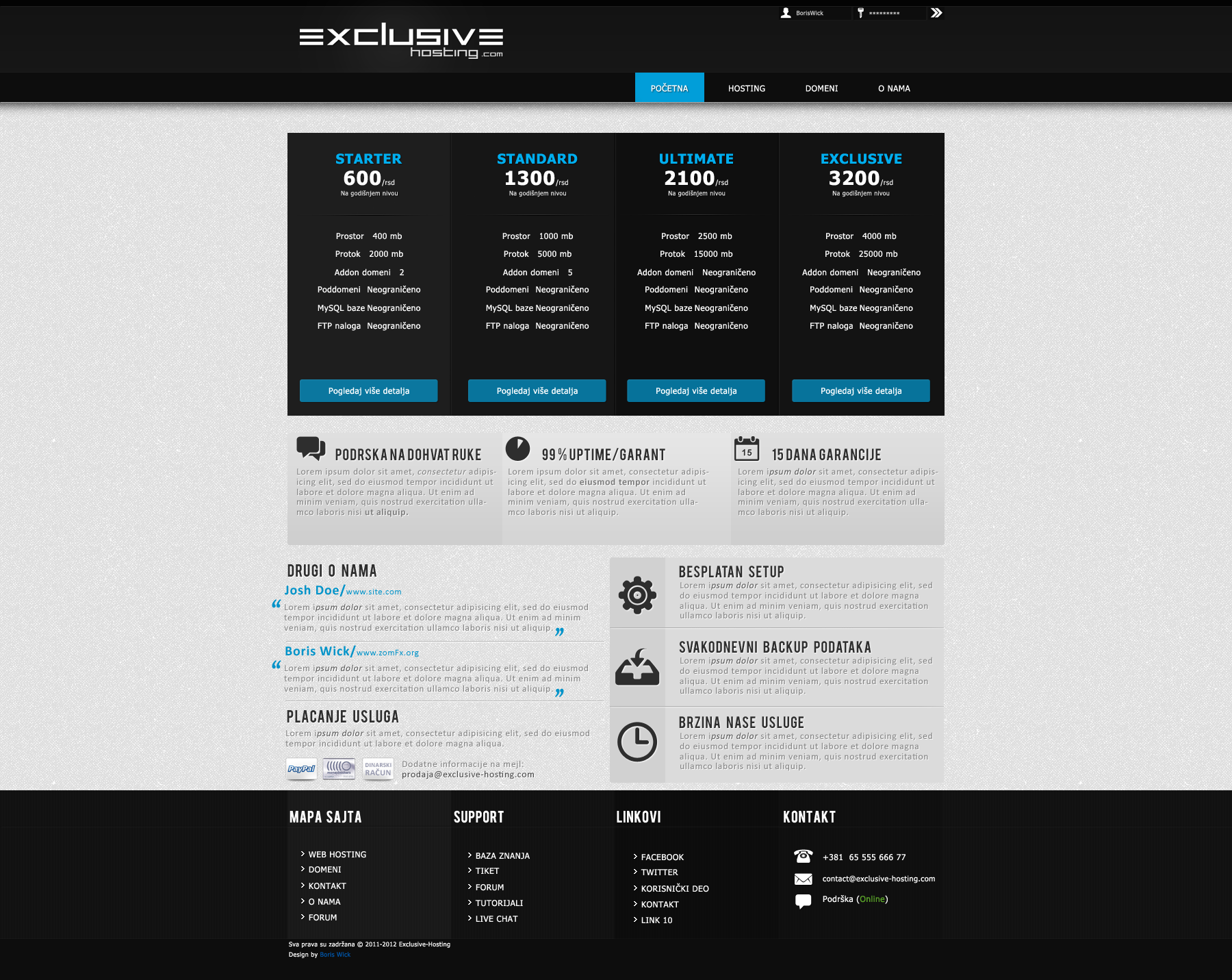 Exclusive Hosting template by ~Photoshopchannel on deviantART ...