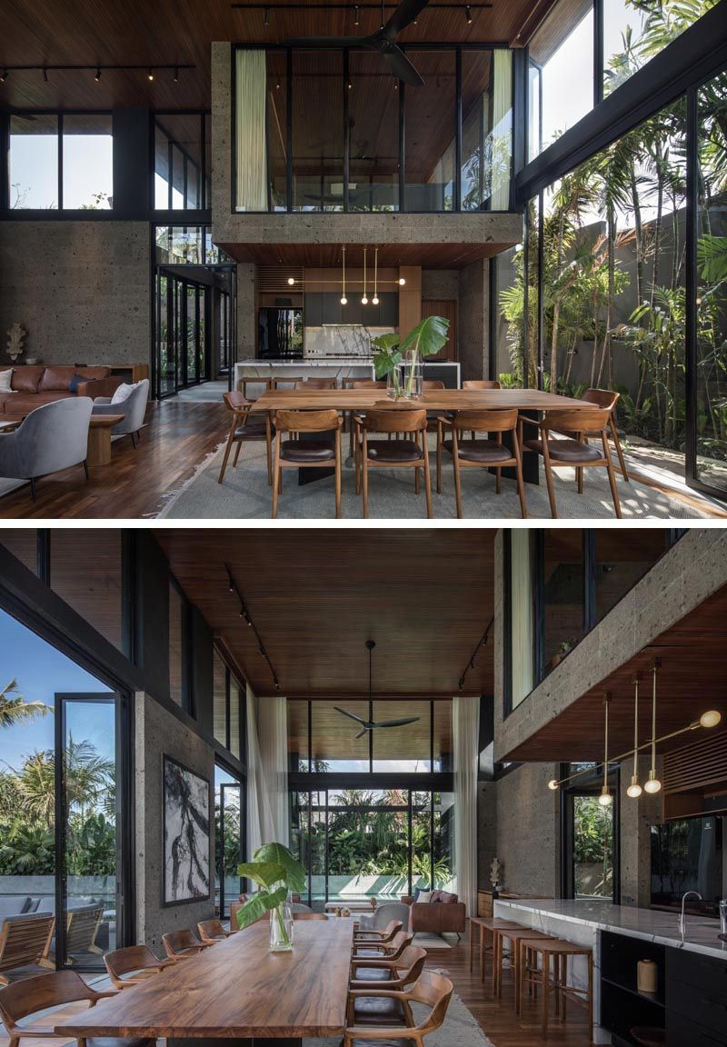Reclaimed Timber And Local Sandstone Are Used Throughout The Design Of The River House In 2020 Wooden House Design River House Modern Wooden House