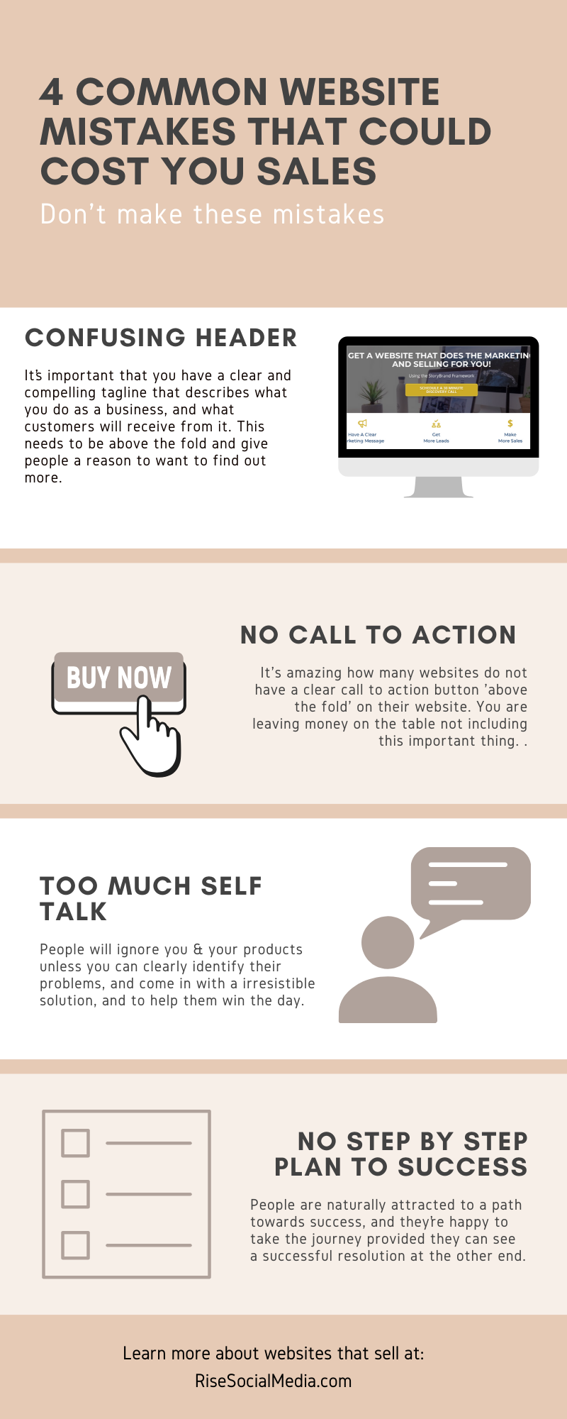4 Common Website Mistakes That Could Cost You Sales In 2020 Website Design Simple Web Design Website Mistakes