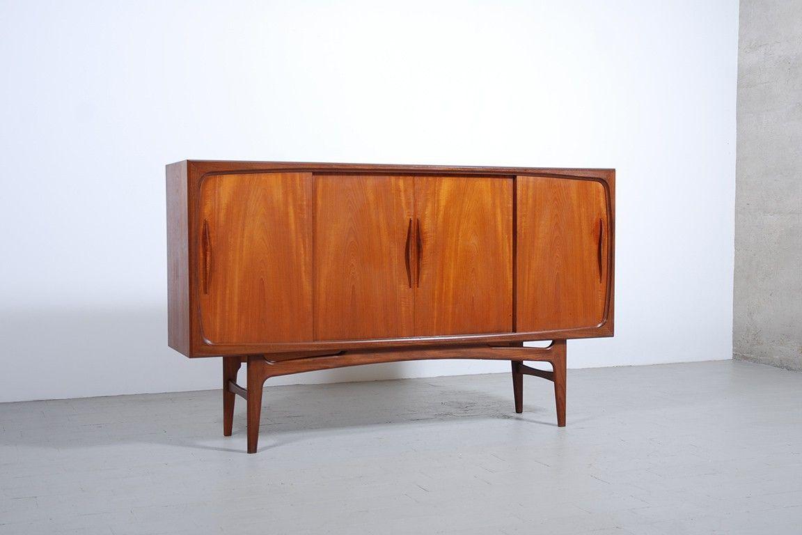 Buffet scandinave enfilade vintage teck 1960 design danois ...