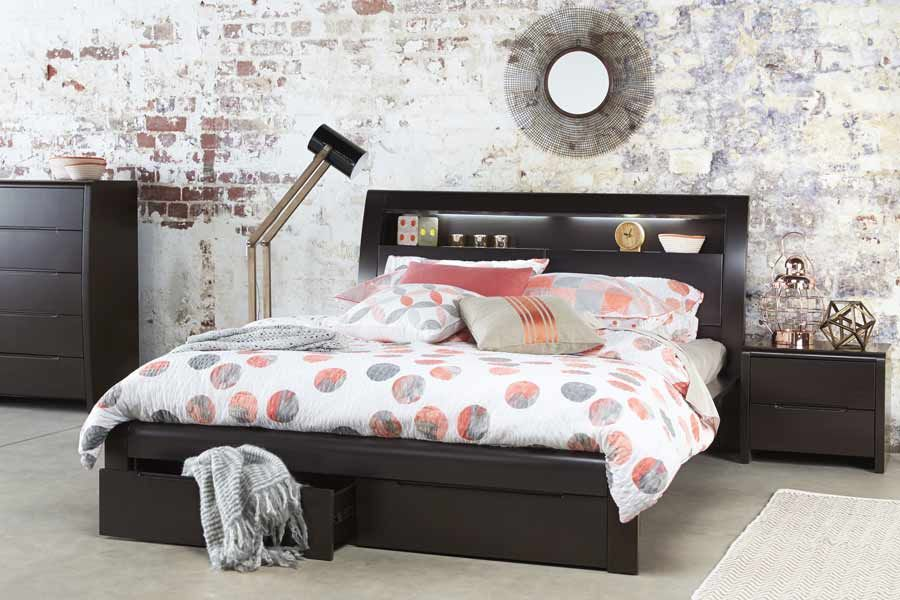 Benton Chocolate Queen Size Bed   Bedshed   Bedshed   Casa Del CJ