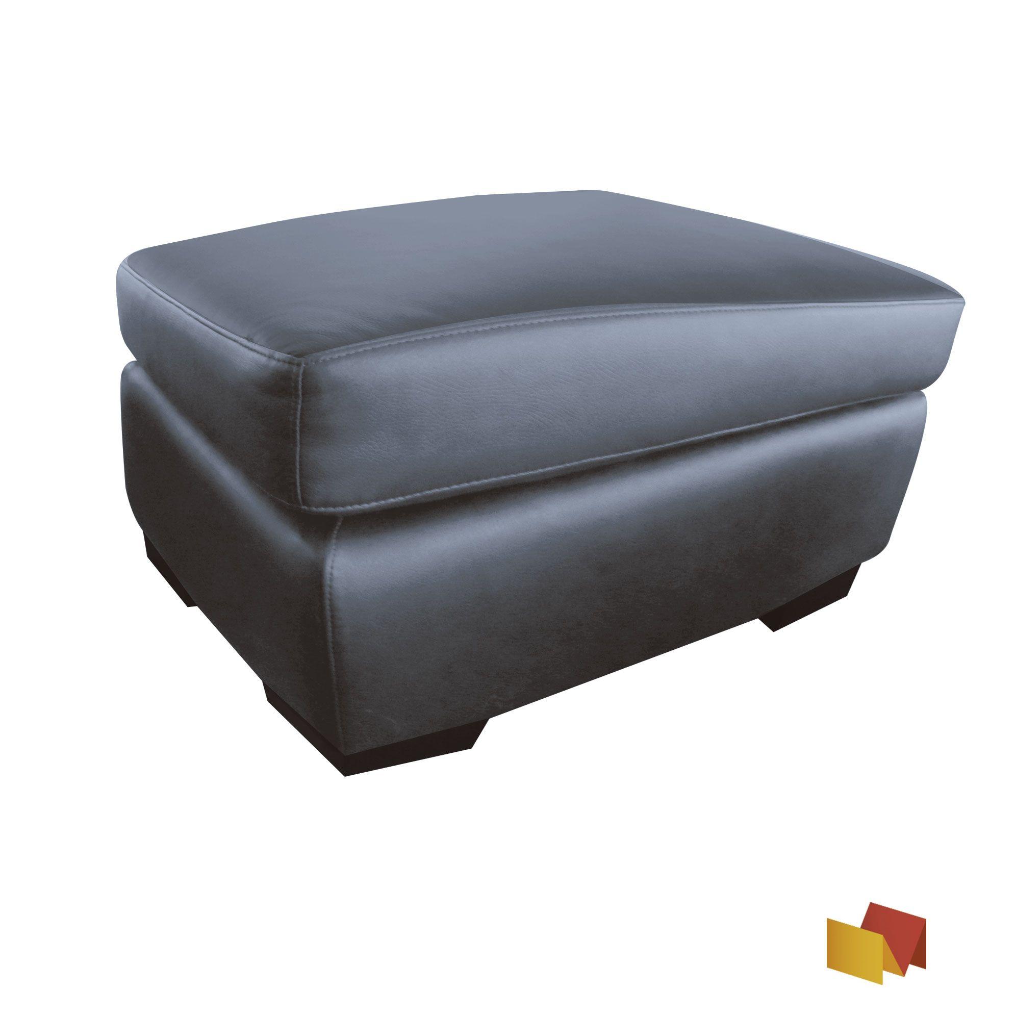 Puff eco-cuero de color negro y café | Muebles,puf,camas y copete ...