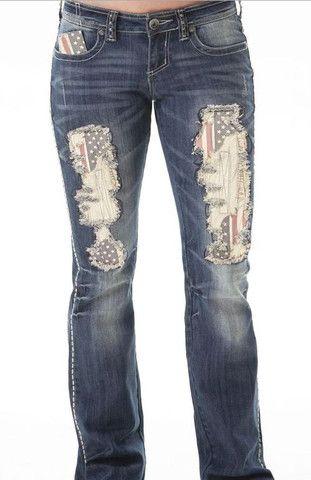 473bd494ce9e Cowgirl Tuff American Pride Jeans