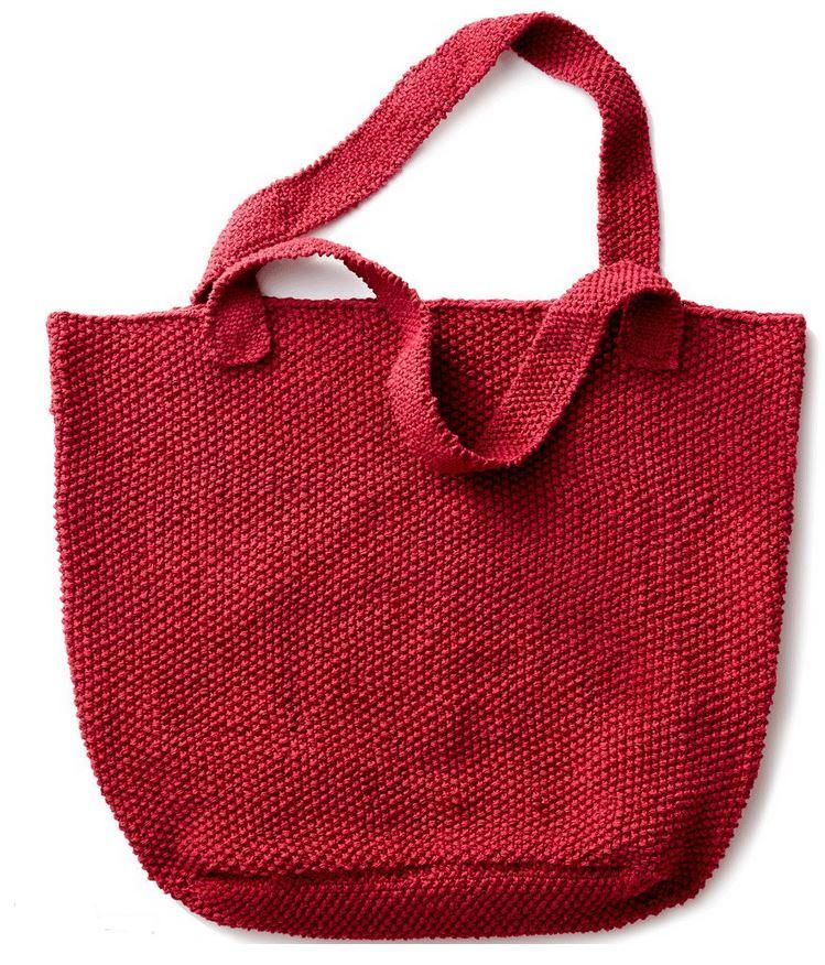 Strawberry Seed Knit Tote Practice The Sch With This Berry Beautiful Bag Pattern