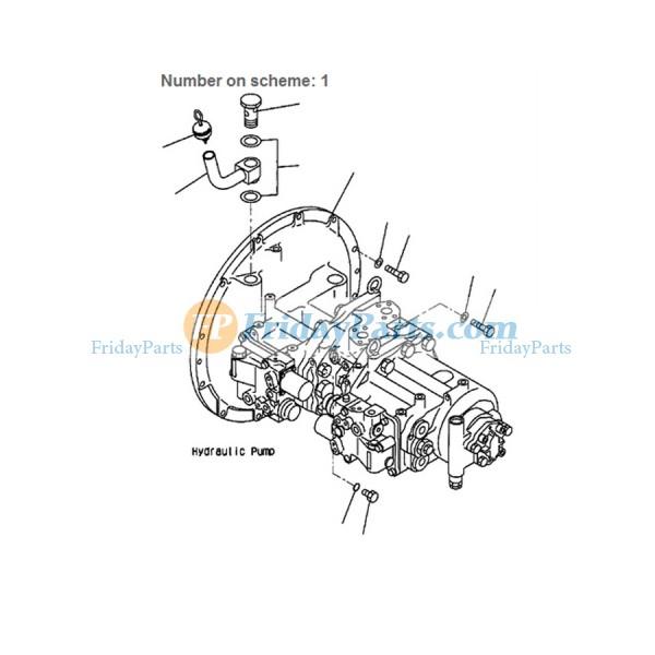 For Komatsu Excavator PC380LC-6K PC300LC-6LC HD-6LC HD-6MH