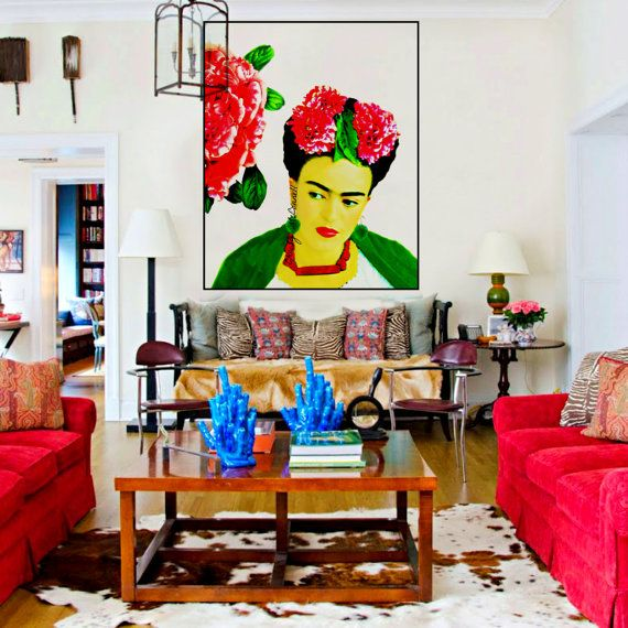 Frida Kahlo Peony Poster Instant Digital Download By