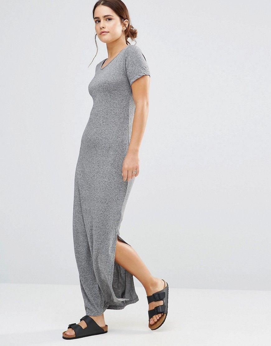 Vestido largo punto algodon