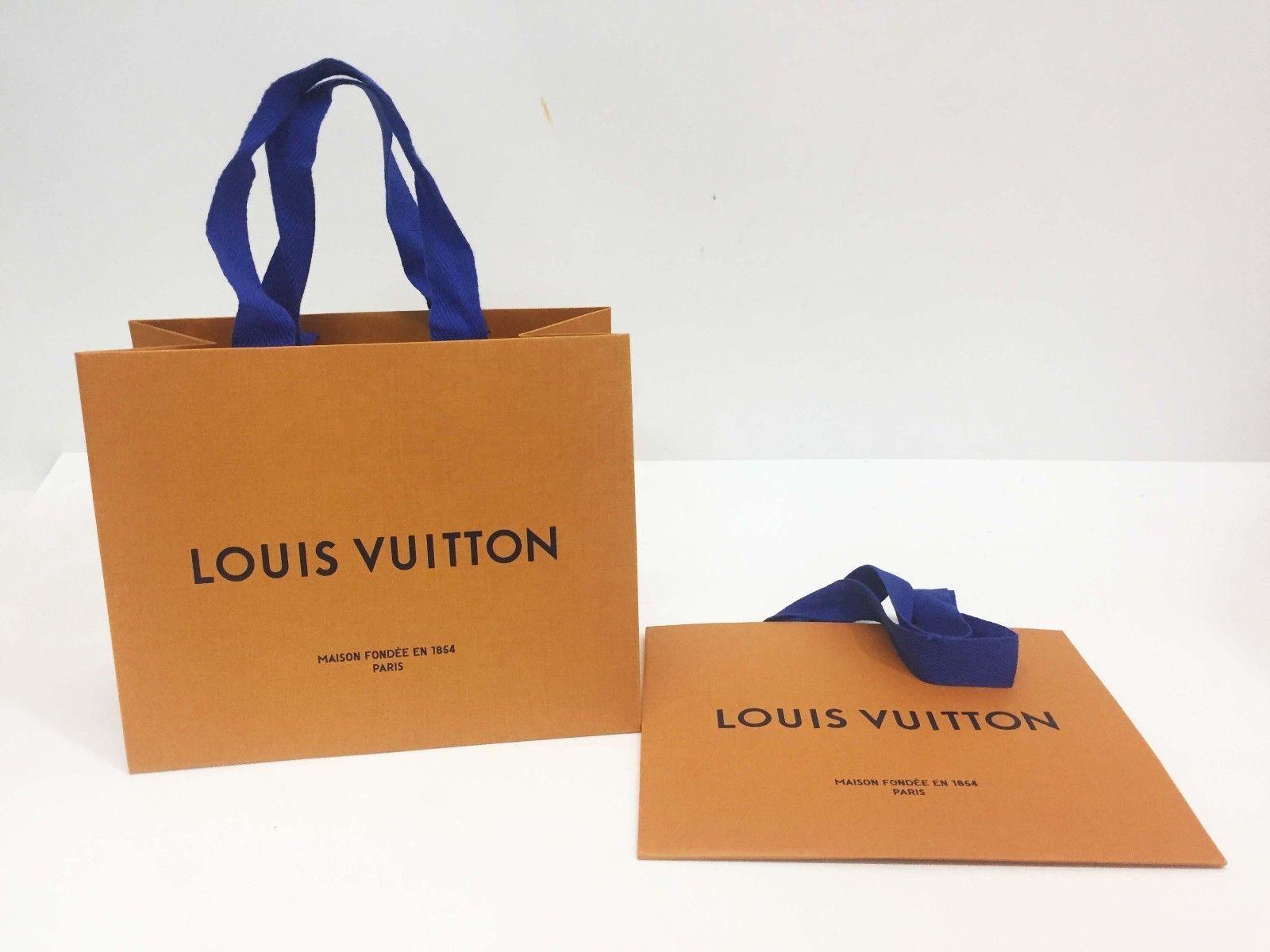 3f025861e20d Auth Louis Vuitton Edition Small Paper Bag 2-Item Set Orange (8.5