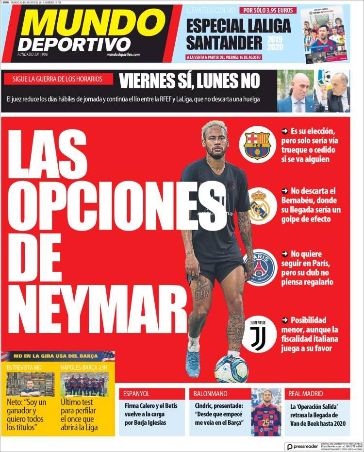 20190810 Periódico El Mundo Deportivo (España