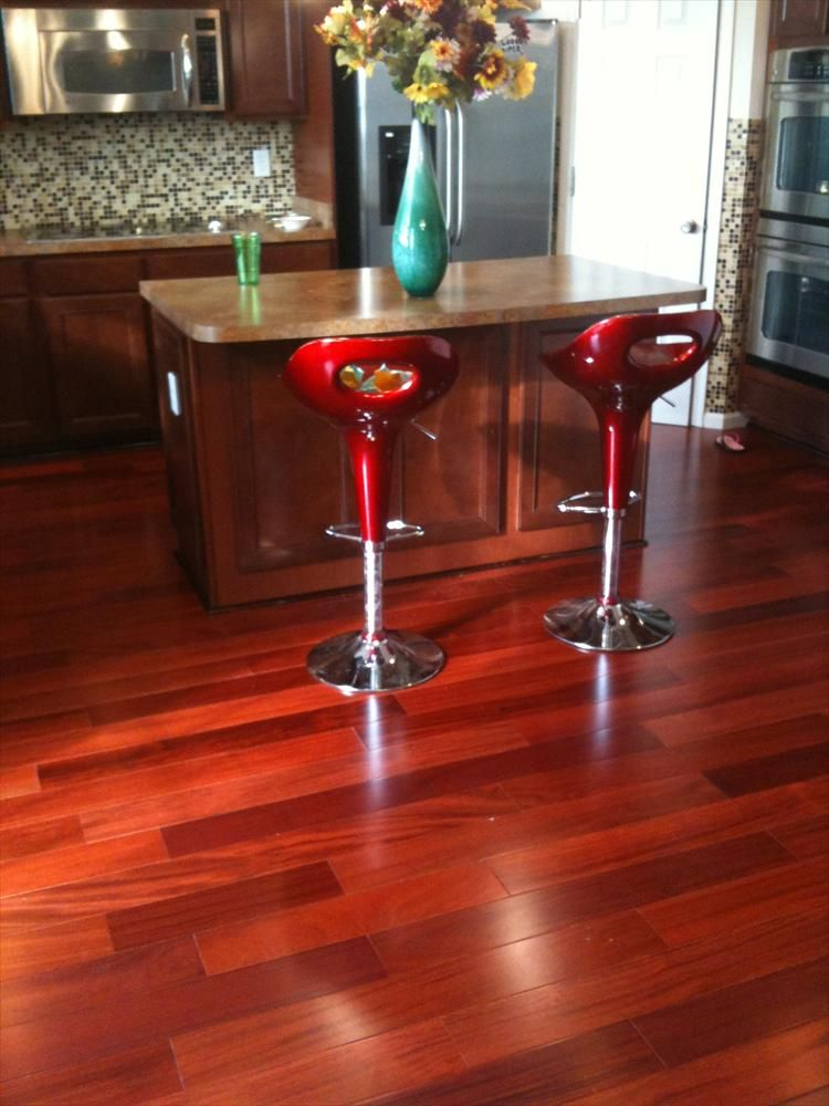 BuildDirect – Smooth South American Hardwood Collection – Rosewood - Kitchen View