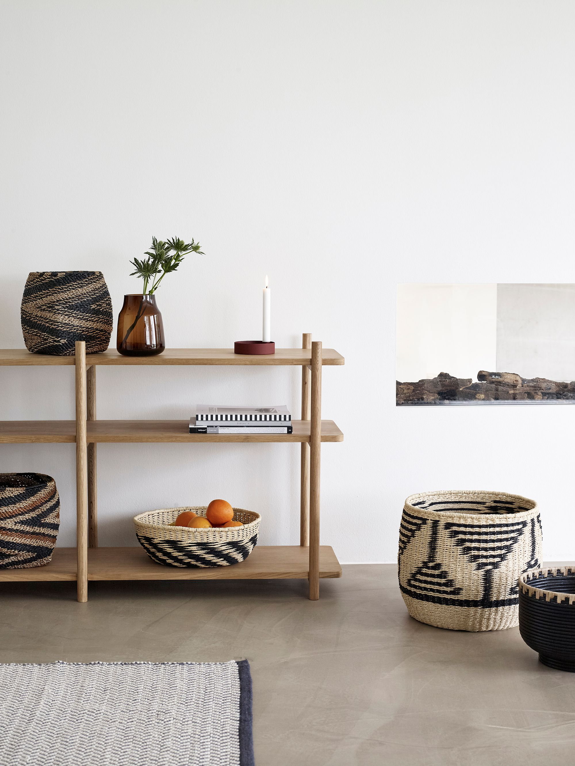 Create  beautiful shelving unit with different shapes colors and textiles to personalize your home also rh pinterest