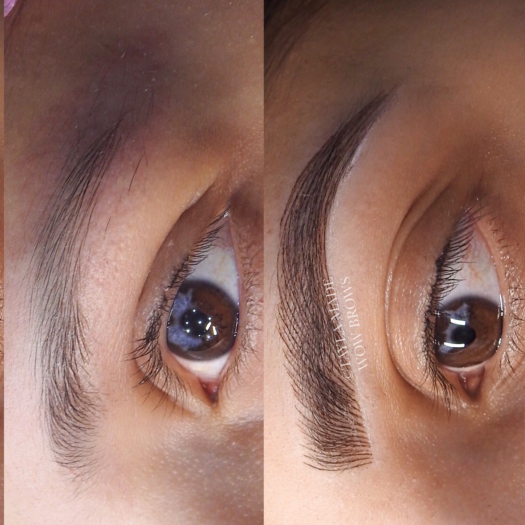 Hair Stroke Feather Touch Microblading Microstroke Tattooed Eyebrows
