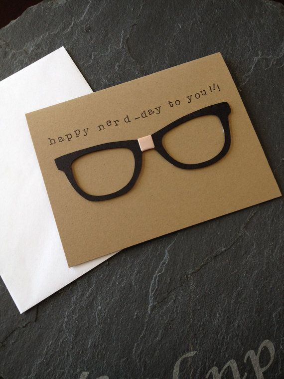Handmade Happy Birthday Nerd Greeting Card Unisex but Great for – Happy Birthday Cards for a Guy Friend