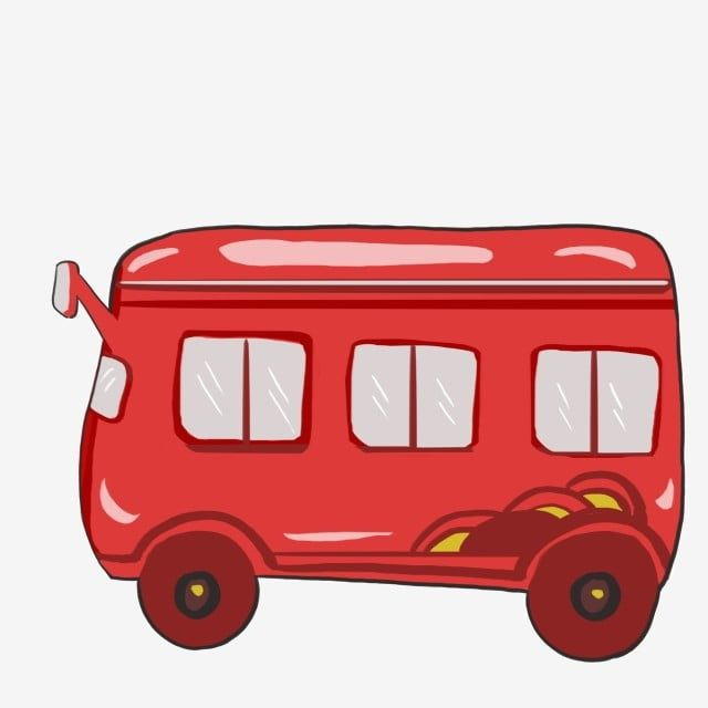 Coche Rojo Bus Ilustración, Dibujos, Bus, De PNG y PSD para Descargar Gratis
